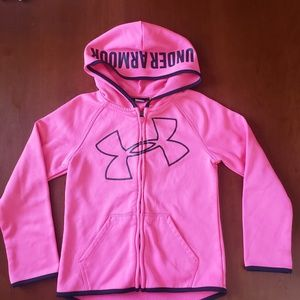 Under Armor Girls Pink Sweatshirt 6X